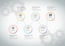 6 steps infographic template. can be used for workflow layout, diagram Royalty Free Stock Photos