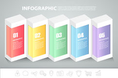 5 steps infographic template. can be used for workflow layout, diagram Stock Photography