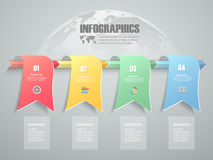 4 steps infographic template. can be used for workflow layout, diagram Stock Photography