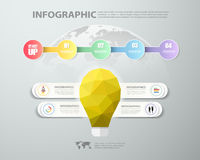 4 steps infographic template. can be used for workflow layout, diagram Stock Images