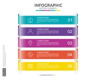 6 steps infographic. timeline design template with 3D paper label. Business concept with options. For content, diagram, flowchart,. 5 steps infographic. timeline stock illustration