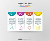 4 steps infographic. timeline design template with 3D paper label. Business concept with options. For content, diagram, flowchart,. Steps, parts, workflow vector illustration
