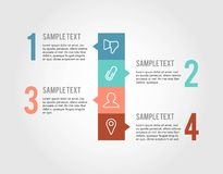 Steps infographic  on white background Royalty Free Stock Photography