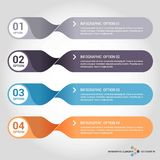 Steps infographics design with unique design vector. This Vector EPS 10 illustration is best for print media, web design, application design user interface Royalty Free Illustration