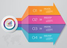 4 steps infographics element arrow chart for presentation. EPS 10 royalty free illustration