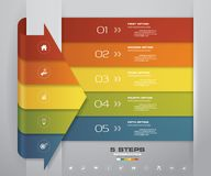 5 steps Infographics element arrow template chart for presentation. EPS 10 Royalty Free Illustration
