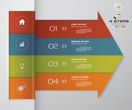 4 steps Infographics element arrow template chart for presentation. EPS 10 Stock Illustration