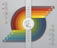 10 steps Infographics element chart for presentation. Arrow template for business presentation. Royalty Free Stock Photo