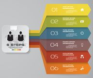 6 steps Infographics element chart for presentation. EPS 10. Arrow template for business presentation Stock Image