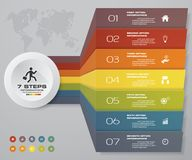 7 steps Infographics element chart for presentation. EPS 10. Arrow template for business presentation Royalty Free Stock Images