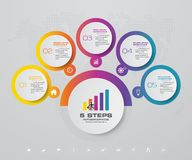 5 steps infographics element template chart. 5 steps infographics element template chart for presentation. EPS 10 royalty free illustration