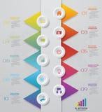 10 steps timeline infographics element template chart. 10 steps infographics element template chart for presentation. EPS 10 stock illustration