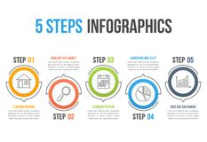 5 Steps Infographics Stock Photos