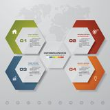 4 steps infographics presentation template. 4 steps with space for your sample text. EPS 10 Royalty Free Stock Photography