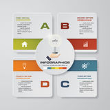 4 steps infographics presentation template. 4 steps with square and space for your sample text or data. EPS10 Stock Photos