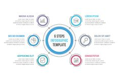 6 Steps Infographics Royalty Free Stock Images