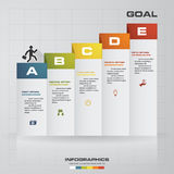 5 steps Infographics vector design template. Simple&Editable for your sample text. Royalty Free Stock Images