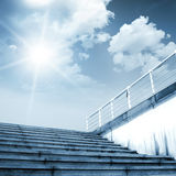 Steps lead to the sky Royalty Free Stock Photography