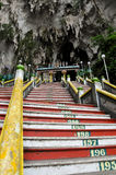 Steps leading into the Batu Caves in Malaysia Stock Photo