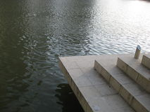 Steps. Leading down to the Singapore River Royalty Free Stock Photo