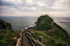 Free Steps Leading To End Of Cape Kamui Royalty Free Stock Image - 43360766