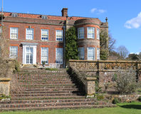 Steps leading to Hinton Ampner stock images