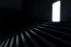 Steps leading to light Stock Photos