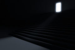 Steps leading to light Stock Image