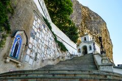 Free Steps Leading To Main Church Of Cave Uspensky Male Monastery, Bakhchisaray, Crimea Stock Photo - 201621640