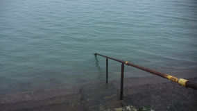 Steps leading to the sea in Dublin. Stock Images