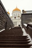 Steps leading to the Temple of Christ the Saviour Stock Image