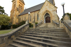 Steps leading up to church door Stock Photography
