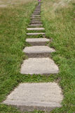 Steps Leading up to the Glastonbury Tor Royalty Free Stock Photo