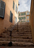 Steps leading up to the historic center of Marseilles Royalty Free Stock Photos