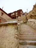 Steps leading up to Shey Palace and Monastery Royalty Free Stock Images