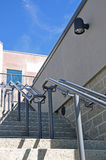 Steps leading upwards into a building Stock Images