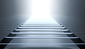 Steps into the light Royalty Free Stock Image