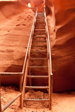 Steps in Lower Antelope Canyon Stock Image