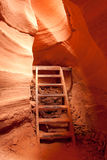 Steps in Lower Antelope Canyon Royalty Free Stock Image