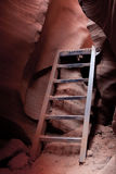 Steps in Lower Antelope Canyon Royalty Free Stock Photography
