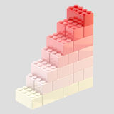 Steps made of toy bricks isolated Stock Image