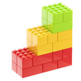 Steps made of toy bricks isolated Royalty Free Stock Images