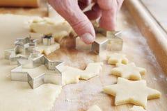 Steps of making christmas tree cake Royalty Free Stock Image