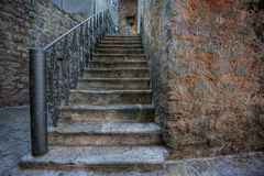 Steps of a medieval town Royalty Free Stock Image