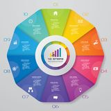 10 steps modern circle chart infographics elements. Abstract 10 steps modern circle chart infographics elements.Vector illustration stock illustration