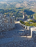 Steps at the Moors Castle, Sintra, Portugal Stock Photography