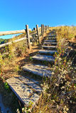 Steps on the mountain Royalty Free Stock Photo