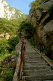 Steps of Mountain Hua Stock Photography