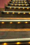 Steps at Movie Theater Stock Photo