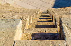 Steps of Odeon Amphitheatre in Paphos Royalty Free Stock Photo
